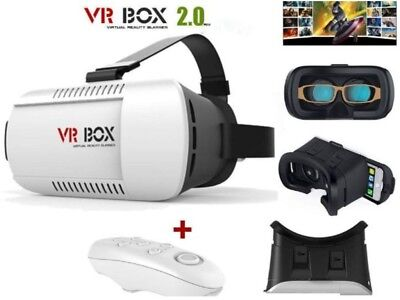 3D Virtual Reality VR BOX V2.0 Glasses Headset With Bluetooth Remote Control