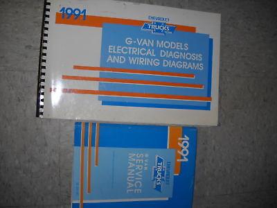 1991 Chevy Express Savana G VAN Shop Service Repair Manual Set W Wiring Diagram