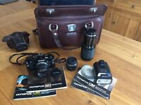 Vintage Olympus OM2 Film Camera and Equipment