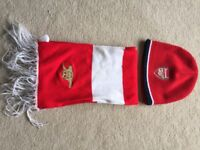 Hat and scarf Arsenal