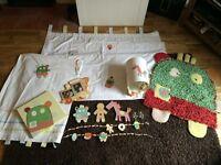 Mamas and Papas Gingerbread Nursery Set - curtains, rug, bumper etc