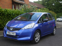 HONDA JAZZ 1.2 BLUE 61 REG 2011 FULL SERVICE HISTORY GOOD CLEAN CHEAP ECONOMICAL FIRST CAR