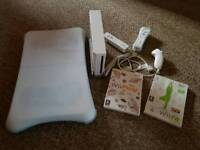 Wii console - exercise mat + controls