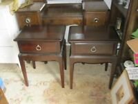 STURDY MATCHING PAIR OF 'STAG' BEDSIDE CABINETS. VIEWING/DELIVERY AVAILABLE