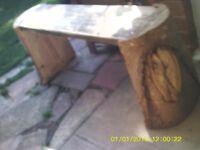 Bespoke tree trunk Bench , hand made.