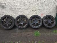 "Honda prelude 17"" tsw alloys nice tyres £130"