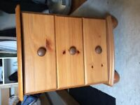 X2 pine bed side drawers