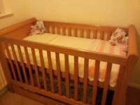 Mothercare Sleigh Cot Bed/ Cotbed