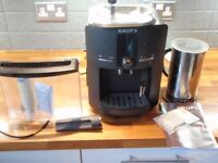 Krups EA8240 bean to cup coffee machine & Nespresso Aerolatte hot milk frother
