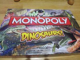 Monopoly Board Game Dinosaur Edition