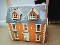 Beautiful fully furnished period dolls house for sale.