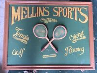 Mellins Sports Wooden Sports Sign