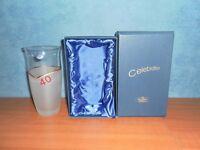 Bohemian Ruby Wedding Anniversary Glass Vase, Original Box