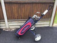 Young Guns Bag, Golf clubs & Tolley
