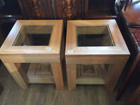 Designer Modern Light Oak Side /Lamp Tables , in great condition.