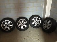 """18"""" Alloy Wheels x 4- fit VW, Porsche, Audi with GoodYear Winter Tyres(235/60 R18)"""