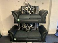 Grey & black Harvey's EX DISPLAY Delivery 🚚 sofa suits couch