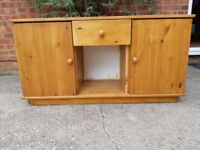 Pine Sideboard - Antique stained.