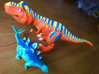 Boris Tyrannosaurus T-Rex & Morris Stegosaurus from Jim Hensons Dinosaur Train