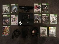 Xbox 360 S Black Console, Xbox Kinect, Controller and Games