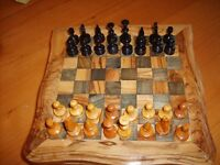 Wooden Chess Set .