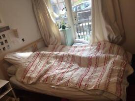 Double bed, mattress, topper, duvet and pillows super cheap!!
