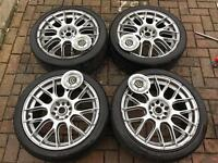 Team Dynamics 18 inch wheels and tyres