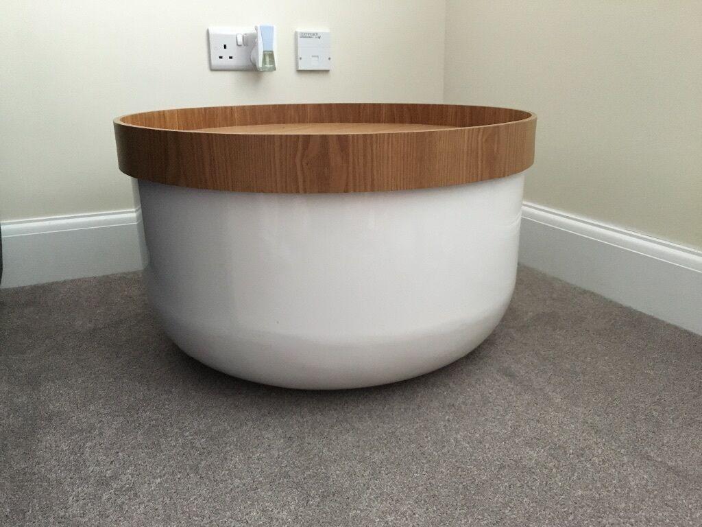 Habitat Round Storage Coffee Table Side