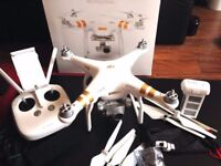 DJI phantom 3 professional with 1 extra battery and carry case and original box