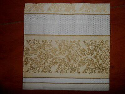 4 x Single  Paper Napkins  Stripes Dots  DECOUPAGE and CRAFT-18