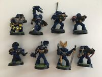 Warhammer 40K Space Marine Squad (Painted, Based)