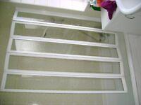 Over bath folding shower screen