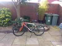 2 mountain bikes for sale, raising funds for children's charity. Please give generously.