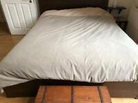 Ikea king size bed and British bed company mattress