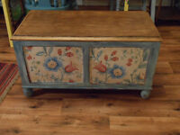CHEST / BLANKET BOX / OTTOMAN / COFFEE TABLE - Painted, decoupaged, antiqued, distressed