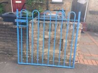 Iron Metal Bow Top Railings and 2 Gates