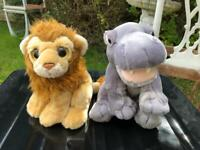Ty lion and keel toys hippo plush toys