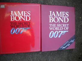 2 007 JAMES BOND BOOKS MINT CONDITION