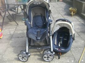 Carrera Push Chair and Child Seat/Carrier