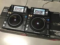 Pioneer XDJ 1000 MK2 DJ USB Decks - Pair Boxed USB CDJ 2000 Nexus DDJ 1000