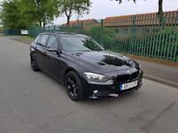 2013 BMW 318D ESTATE BLACK F31 2.0 DIESEL MANUAL MOT JUNE 2019 GOOD RUNNER