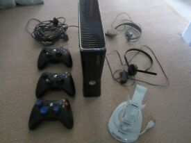 Xbox 360 250gb Console + 3 Controllers,2 Headsets, 2 Chargers,2 Play & charge sets and 12 Games