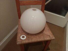 Large Ikea glass globe lamp shade - (30cm dia) - Reserved until 5 Dec