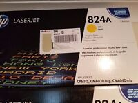 Brand new, unopened HP Laserjet 824A Imaging Drum & Print Cartridge in original retail packaging.