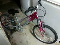 "Girls 20"" Ammaco Zombie Bike Aluminium (very Lightweight) - 6 Gears. In Very Good Used Condition £40"