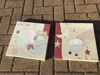 Mamas and Papas Light of the Moon Nursery Wall Prints / Canvases