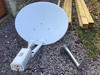 Satellite broadband dish and modem