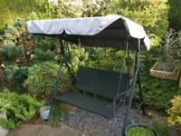Garden Swing Bench with Canopy