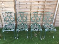 Garden chairs green could to with a repaint