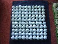 100 mixed golf balls